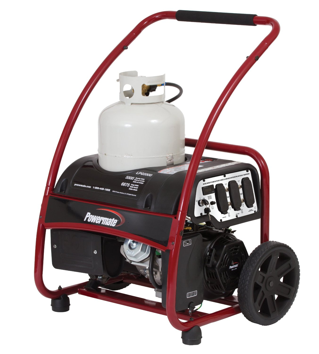 powermate portable propane generator   6875 watt electric start