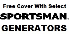 Free Generator Cover With Select Sportsman Generators