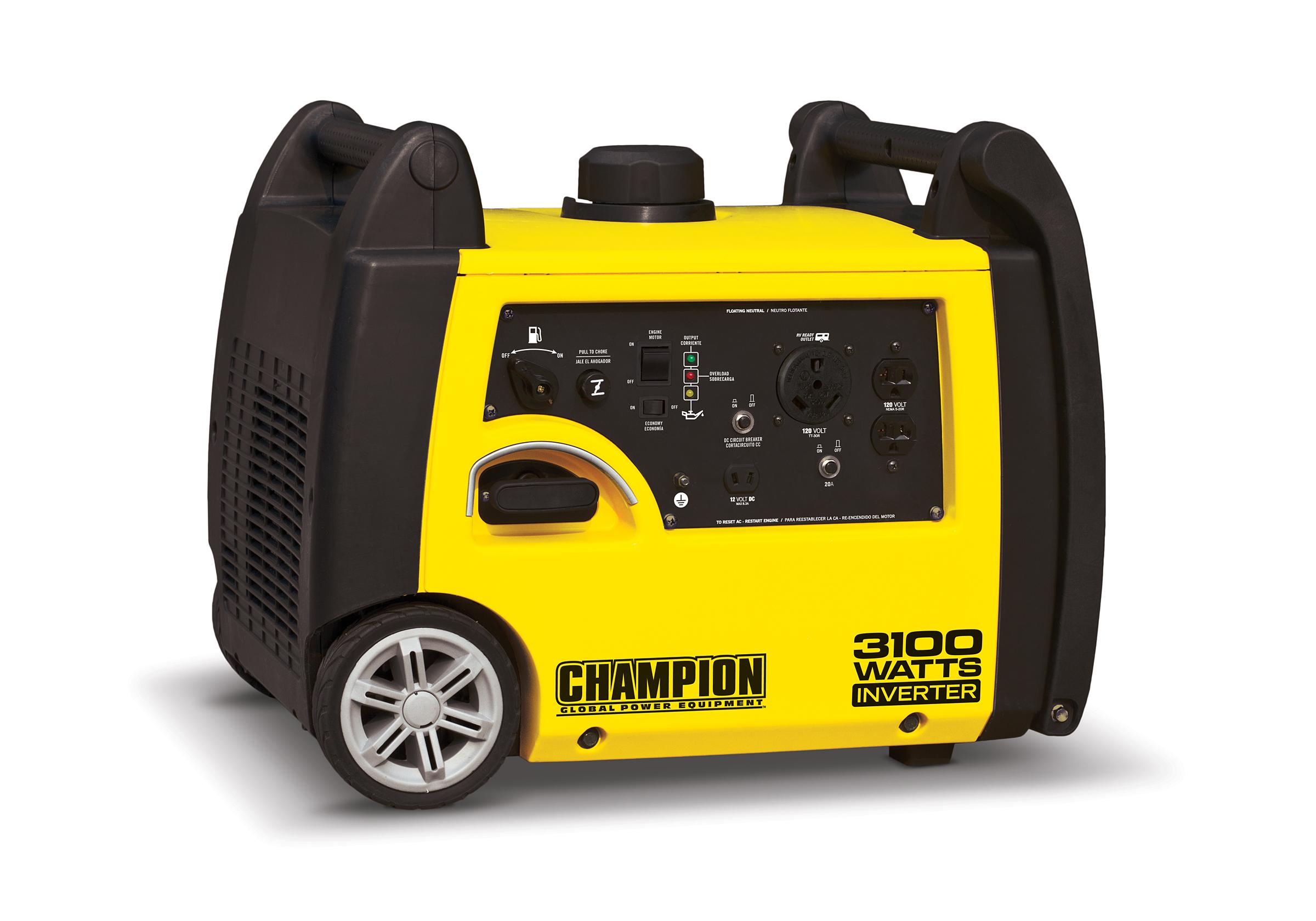 Champion Inverter Generator 3100 Watt Idle Control 58 dB