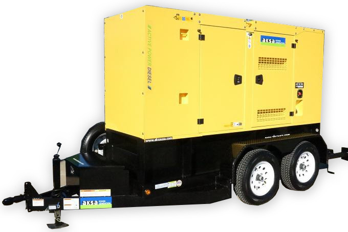 Aksa Silent Towable Diesel Generator Apd At150 Absolute Generators