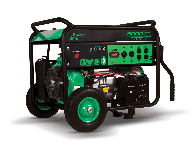 Champion Propane Generator 6 Kw Electric Start Wheel Kit