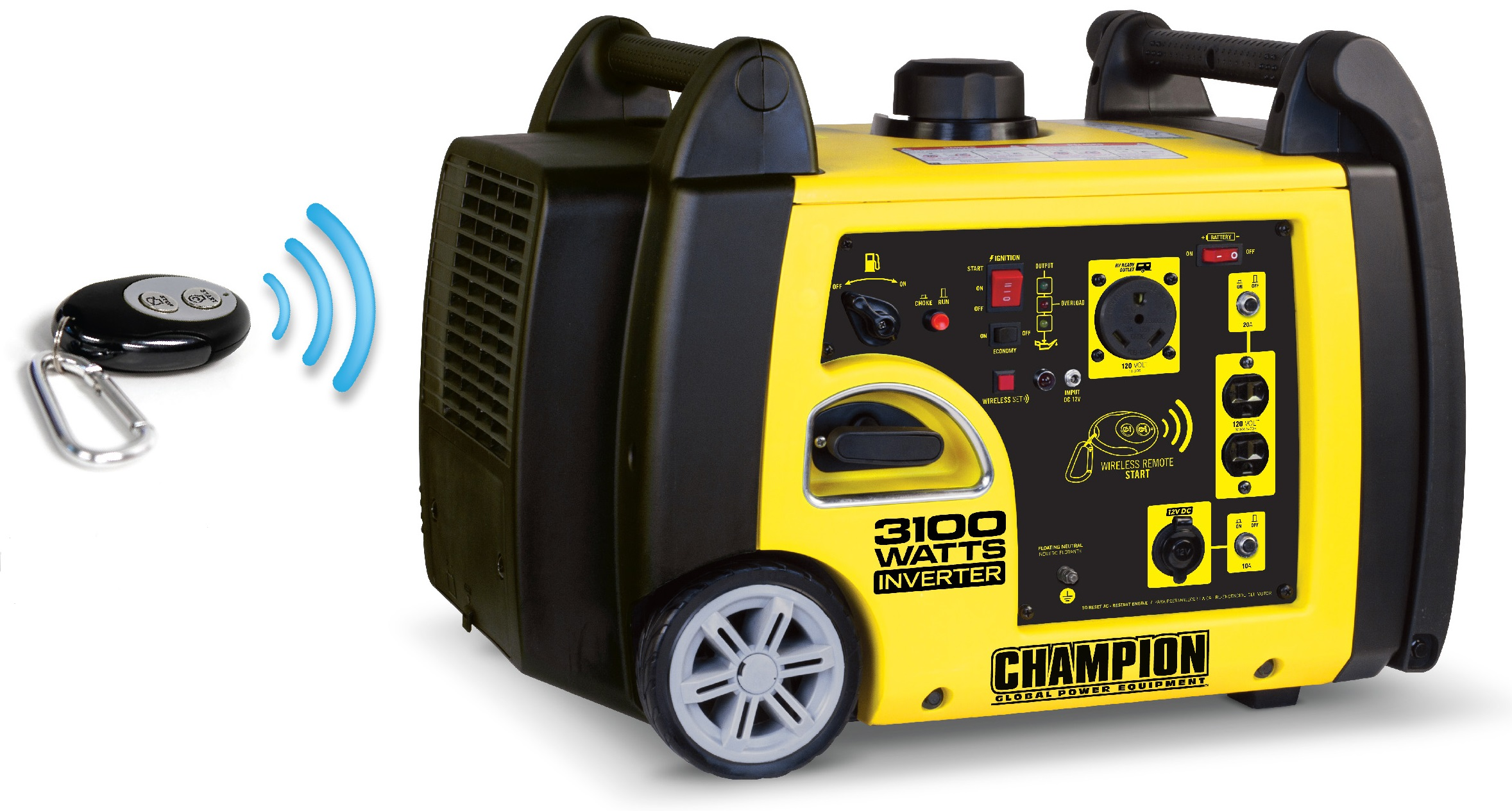 Champion Inverter Generator 3100 Watt Remote Starting 58 dB