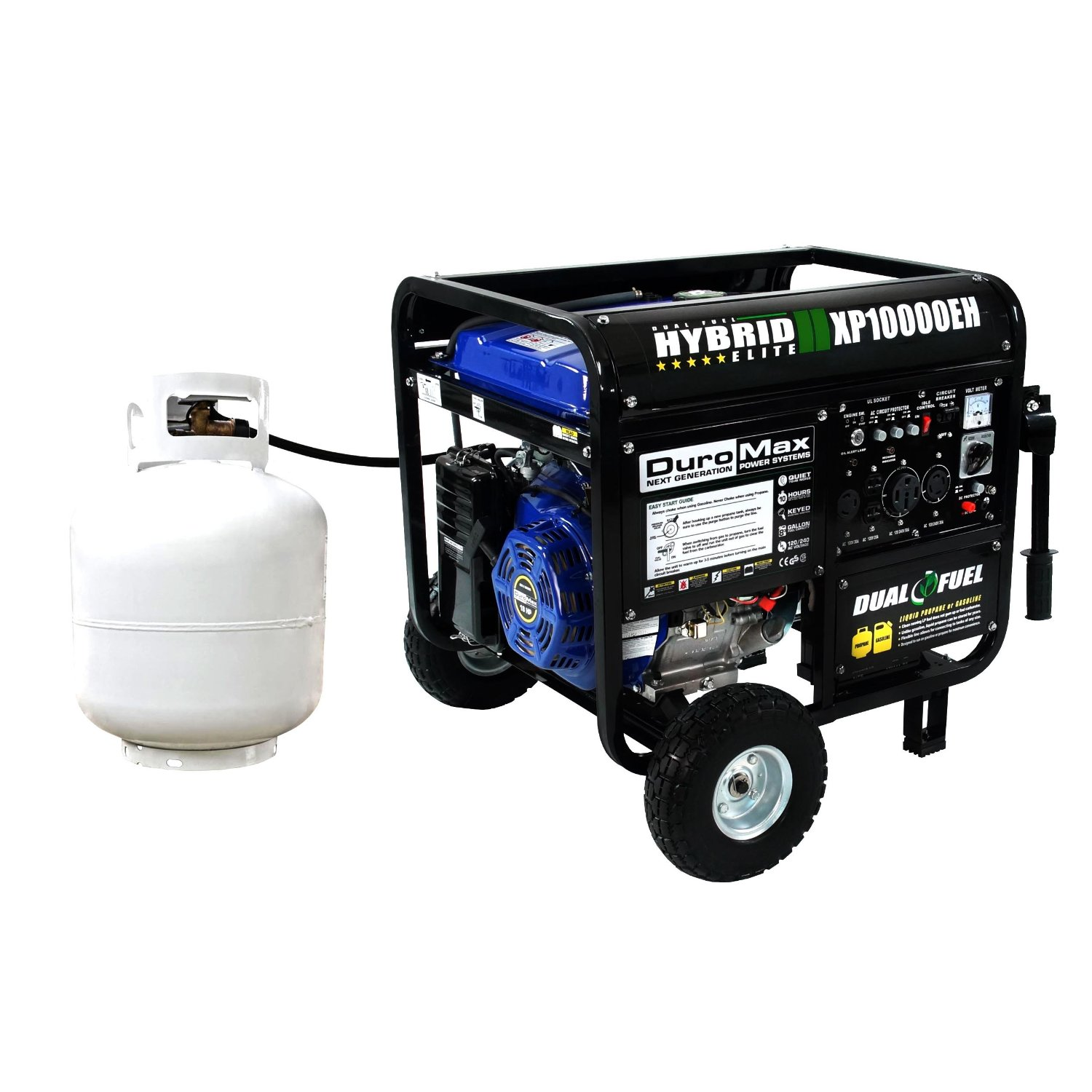 DuroMax Dual Fuel Generator XP EH Watt LP & Gas Idle