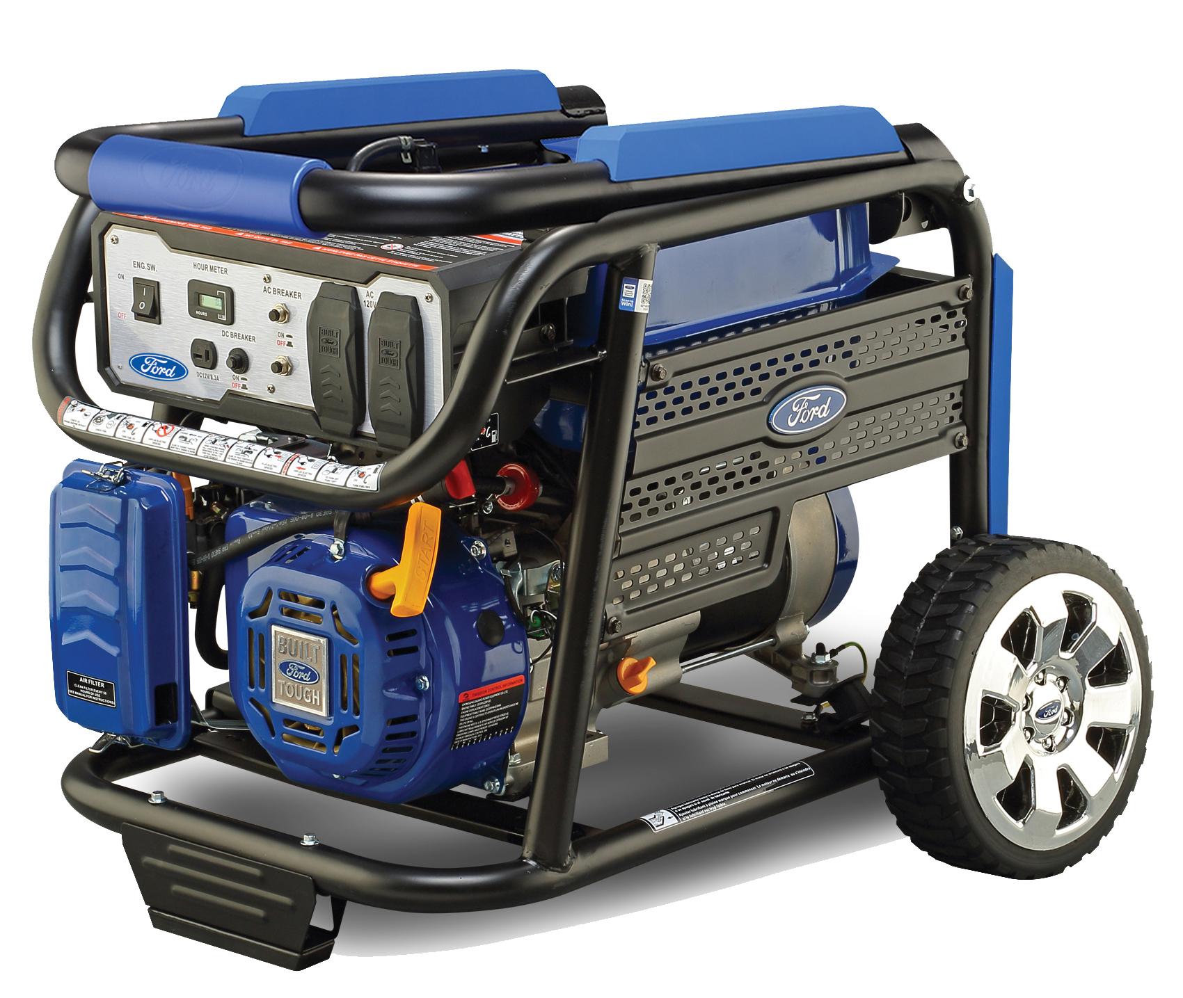 Ford Portable Gas Generator 4650 Watt Wheel Kit 68 dB CARB