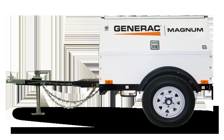 Generac Mobile Diesel Generator - MLG8K, 8.1-9 kW, Kubota Diesel