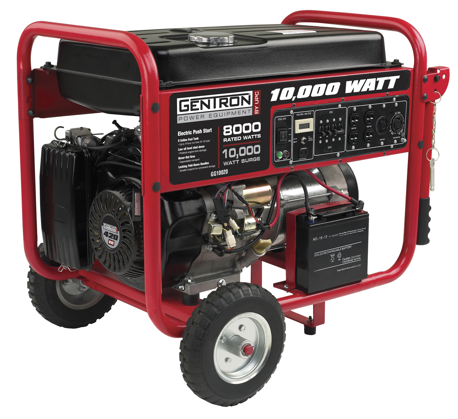 Gentron Portable Generator GG Watt 15 HP Gas
