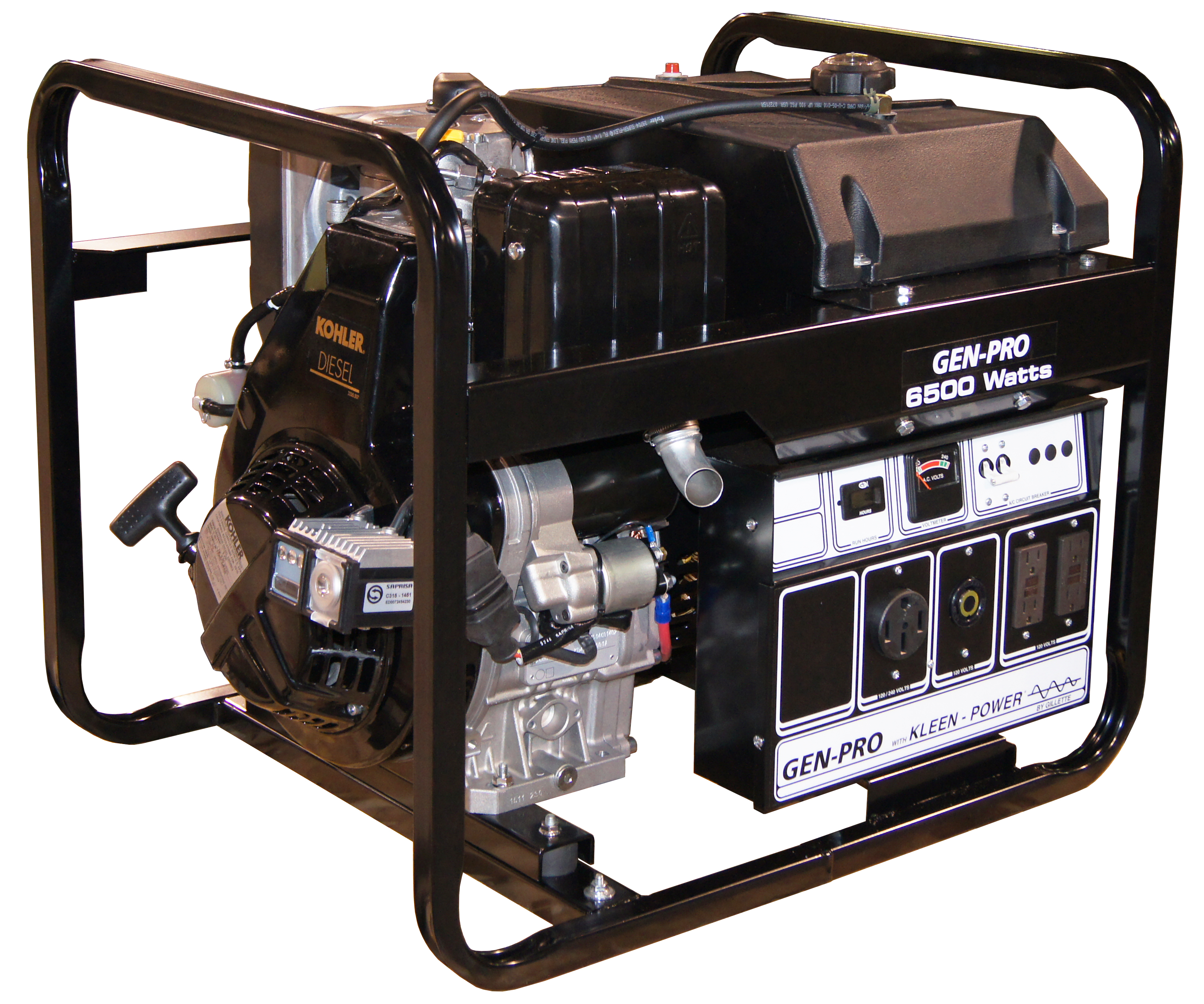 Gillette Portable Diesel Generator GPED 65EK 6 5 kW 8 HP