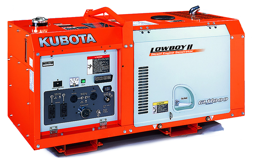 Kubota Lowboy Ii Compact Quiet Diesel Generator Gl11000 Absolute Generators