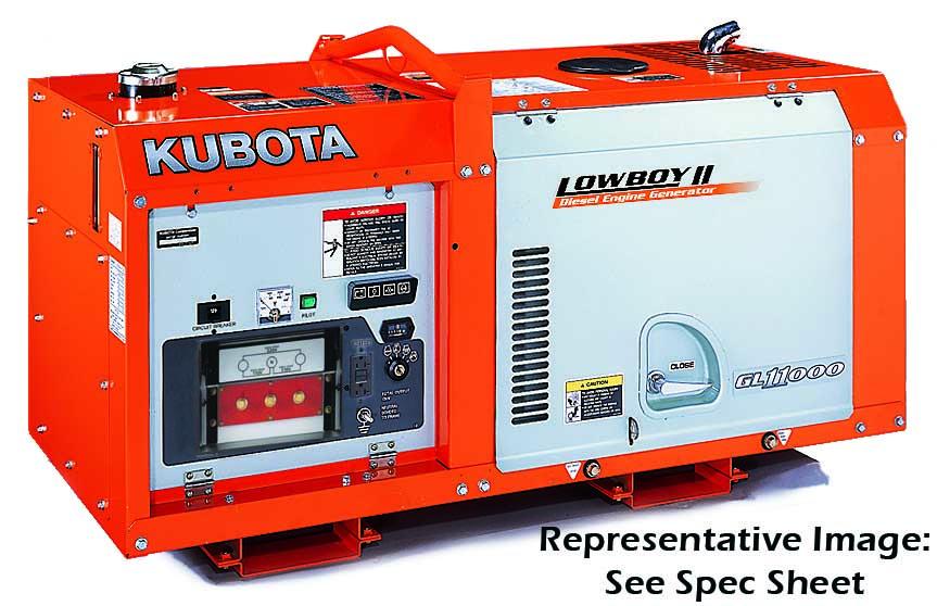Kubota Lowboy II Compact & Quiet Diesel Generator - GL11000TM