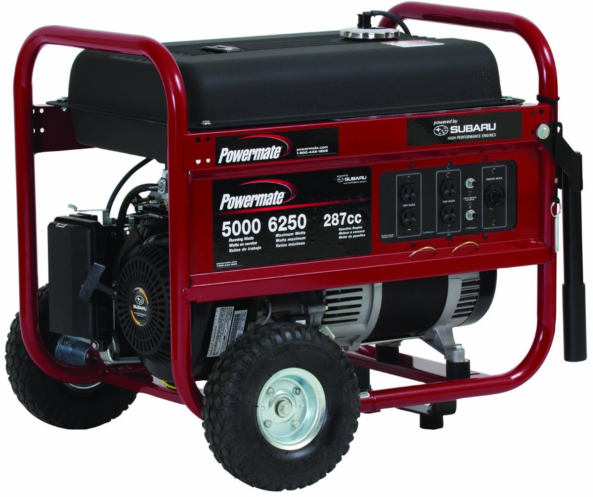 Coleman Powermate 3500 Generator With Honda Engine Wiring Diagram Portable 6250 Watt Gasoline Manual Start Pm0435005 Subaru At
