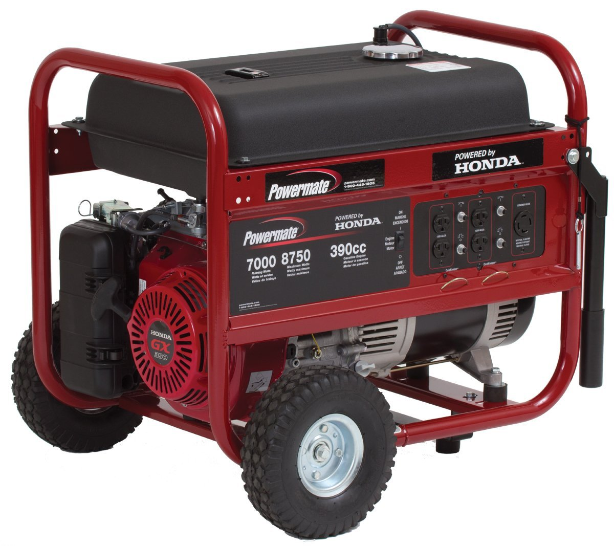Powermate Portable Generator Pm0497000 8750 Watt Honda Gas Engine Schematics