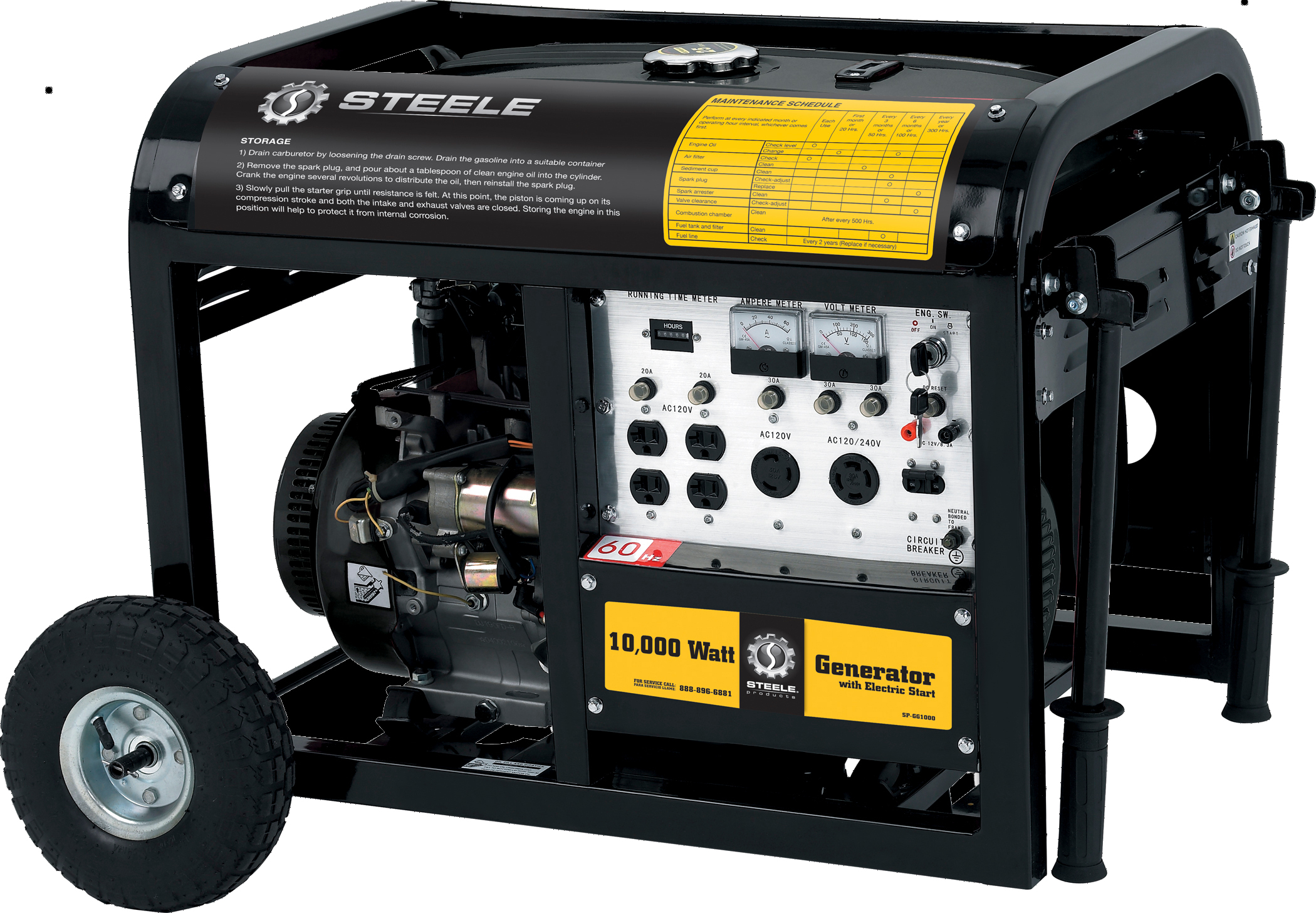 Steele Products Portable Generator 10 kW Electric Start Gas