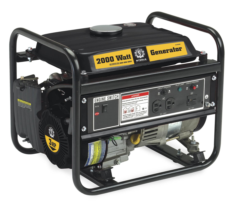 Steele Products Portable Generator SP GG200 2000 Watt Gas