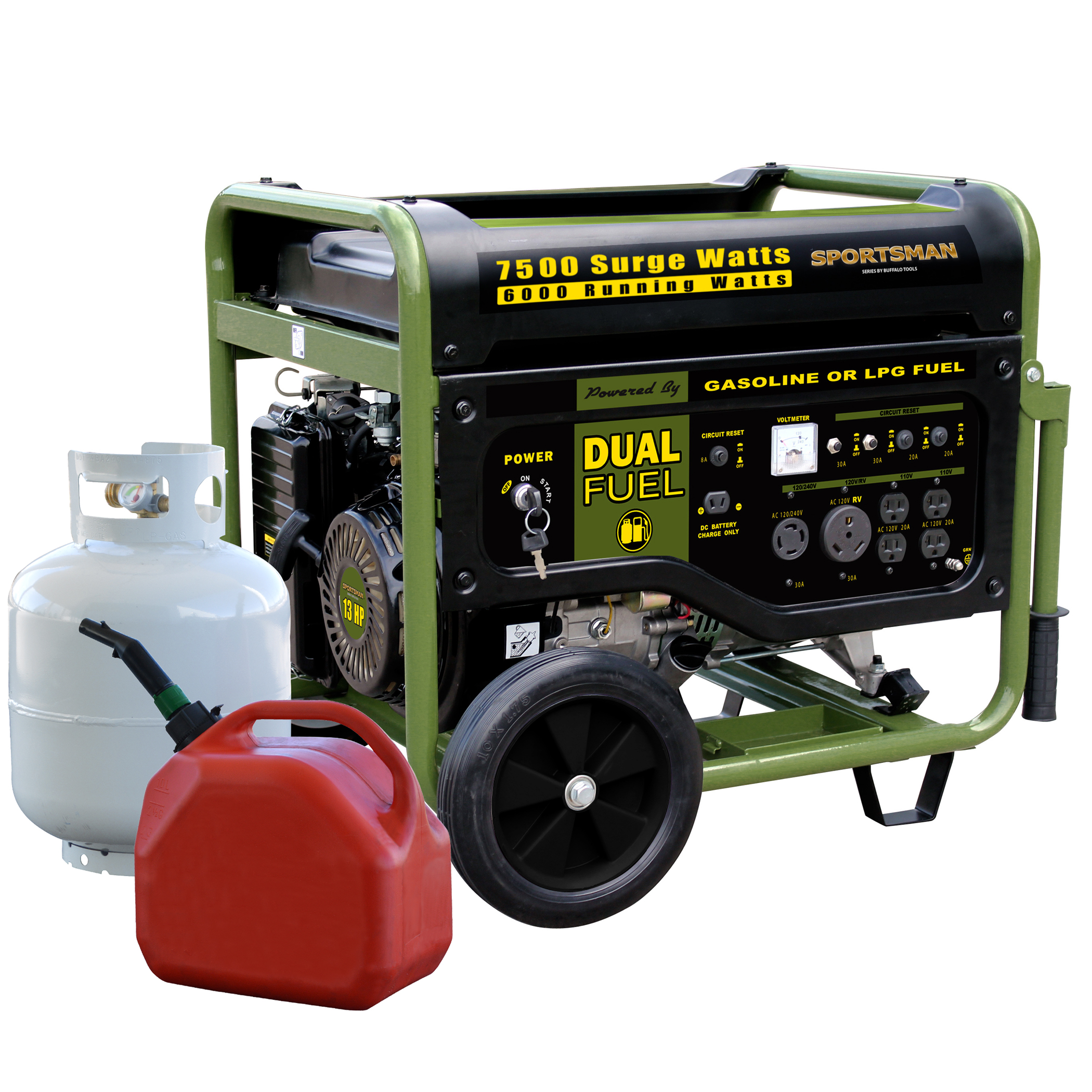 Sportsman Bi Fuel Generator 7500 Watt
