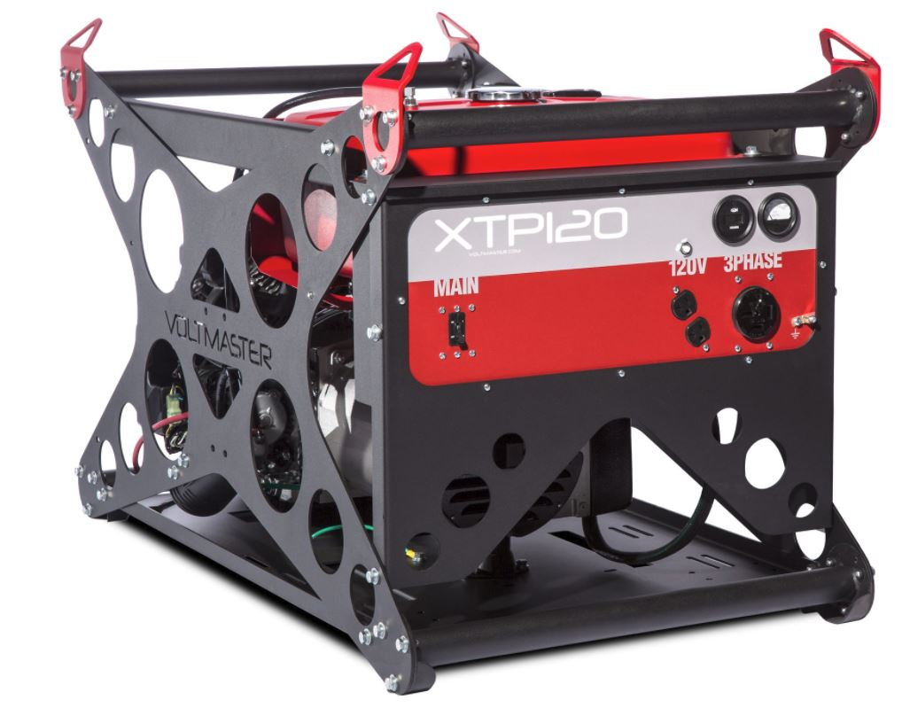 honda diesel generator. Voltmaster Portable 3-Phase Generator - XTP120EH208, 11.5 KW, 120-208 Volt, Honda Powered Diesel
