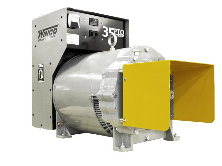 Winco Tractor Driven PTO Generator - 35PTOC-3, 35 kW, 540 RPM